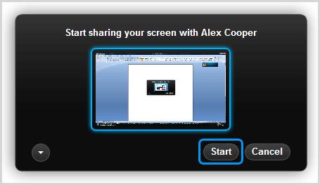 Caixa de diálogo skype