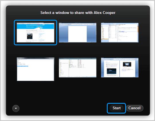 Caixa de diálogo skype3